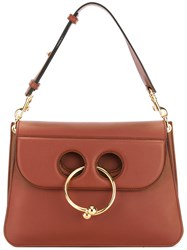 J.W.Anderson Ring Detail Shoulder Bag Women Calf Leather One Size Brown