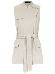 Andrea Marques Belted Gilet Neutrals