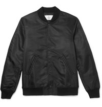 Reigning Champ Stadium Shell Bomber Jacket Black