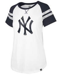 47 Brand '47 New York Yankees Flyout T Shirt White Navy