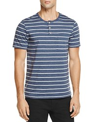 Sovereign Code Soveriegn Dovray Striped Henley Tee Blue Gray