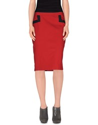 Y 3 Skirts Knee Length Skirts Women Red