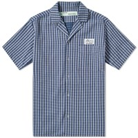 Off White Check Vacation Shirt Blue