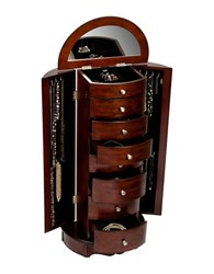 Mele Corsica Wooden Jewelry Armoire Brown