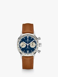Hamilton H38416541 'S Intramatic Automatic Chronograph Date Leather Strap Watch Tan Blue
