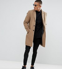 Only And Sons Overcoat Lead Grey Beige