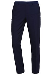 Burton Menswear London Skff Midnight Suit Trousers Navy Dark Blue