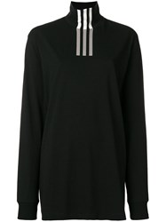 Y 3 Tri Stripe Print Turtleneck Sweatshirt Black