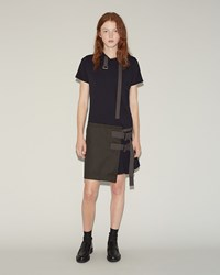 Sacai Cotton Jersey Dress Navy