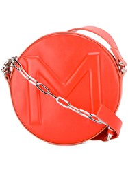 Thierry Mugler Round Crossbody Bag Yellow Orange