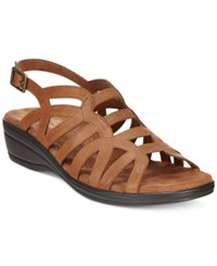 Easy Street Shoes Easy Street Curly Slingback Wedge Sandals Women's Shoes