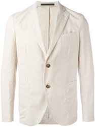 Eleventy Two Button Blazer Nude Neutrals