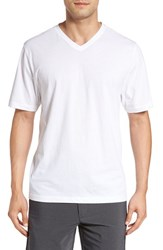 Cutter And Buck Men's Big Tall 'Sida' V Neck T Shirt White