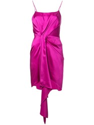 Fleur Du Mal Holiday Cascade Dress Purple