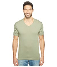 Agave Kerbox Short Sleeve V Neck Supima Modal Deep Lichen Green Men's Short Sleeve Pullover