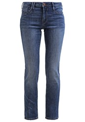 Esprit Edc By Straight Leg Jeans Blue Medium Wash Blue Denim
