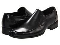 Steve Madden Evente Black Leather Men's Slip On Dress Shoes