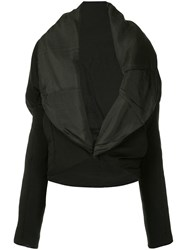Masnada Oversized Lapel Jacket Black