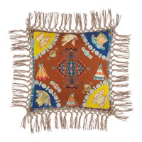 Etro Teepee Tassel Edged Cushion 42X42cm Multi