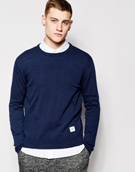 Bellfield Crew Neck Sweater Blue
