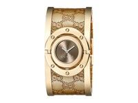 Gucci Twirl 23.5Mm Bangle Watch Ya112434 Gold Brown