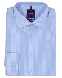Double Two Men's Slim Fit Formal Shirt Blue