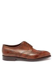 John Lobb Hayle Leather Brogues Dark Brown