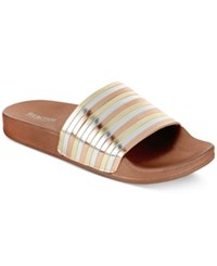 Kenneth Cole Reaction Women's Pool Pipes Jewel Flat Sandals Women's Shoes Soft Gold