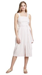 Vince Belted Wide Strap Dress Rosa Secco
