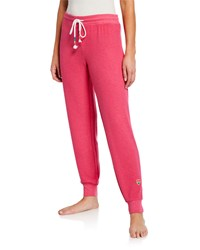 Pj Salvage Drawcord Jogger Pants Fuchsia