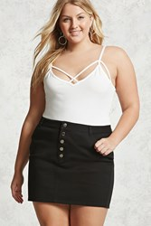 Forever 21 Plus Size Button Mini Skirt