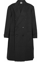Vetements Brioni Oversized Double Breasted Wool Coat Black