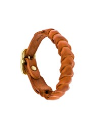 Il Bisonte Braided Bracelet Yellow And Orange