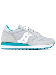 Saucony Jazz Original Sneakers Women Cotton Leather Polyester Rubber 7.5 Grey