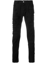Frankie Morello Stretch Skinny Jeans Black