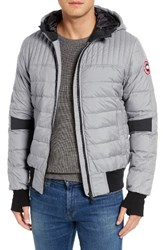 Canada Goose Men's Cabri Hooded Down Jacket Sterling Grey