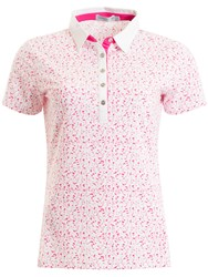 Green Lamb Frances Printed Polo White