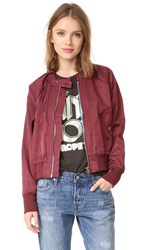Free People Midnight Bomber Jacket Merlot