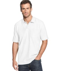 John Ashford Short Sleeve Solid Textured Performance Polo Bright White