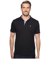 Psycho Bunny St. Croix Polo Black Short Sleeve Pullover