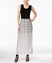 Calvin Klein Printed Maxi Dress Black White