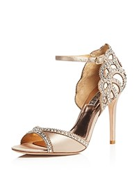 Badgley Mischka Roxy Vintage High Heel Sandals Nude