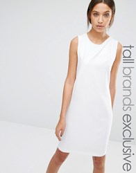 Y.A.S Tall Sleeveless Pleat Front Detail Dress Cream