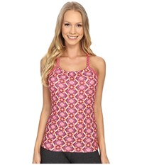 Prana Quinn Top Azalea Guava Women's Workout Pink
