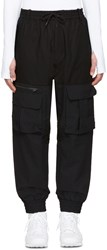 Y 3 Black Air Mesh Cargo Pants