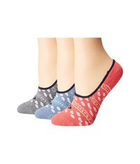 Sperry Cushion Canoe Liners Infinity Blue Assorted Women's No Show Socks Shoes Multi