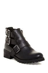 Penny Loves Kenny Murk Buckle Cutout Boot Black