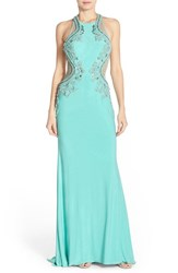 Women's Sean Collection Embellished Jersey Gown