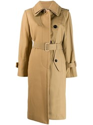Sacai Belted Trench Coat Neutrals