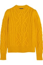 Isabel Marant Gayle Cable Knit Alpaca Blend Sweater Marigold